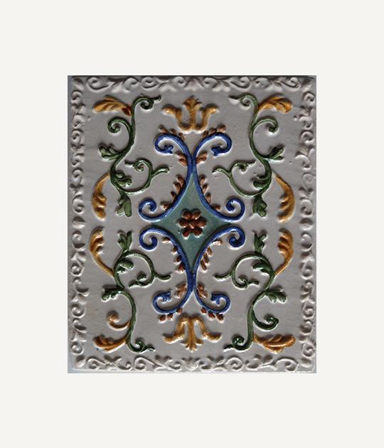 Купить изразцы в Ярославле - Древо Жизни 12,5х10, цвет белый