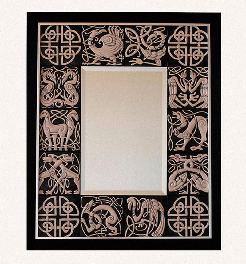 Интерьерное зеркало с ярославскими изразцами - Кельсткое